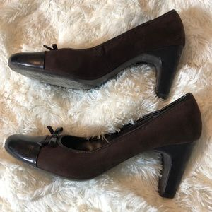 Predictions Brown Career Heels with bows